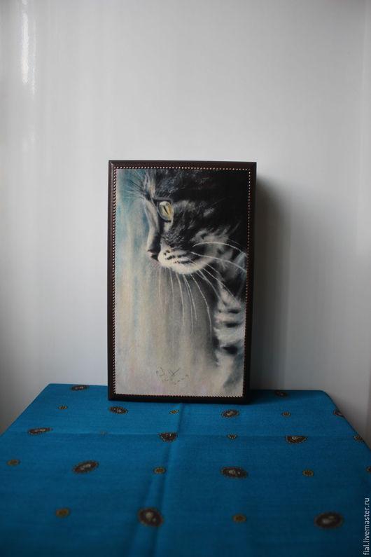 """Прихожая ручной работы. Ярмарка Мастеров - ручная работа. Купить Ключница """"Котёнок"""". Handmade. Комбинированный, дерево"""