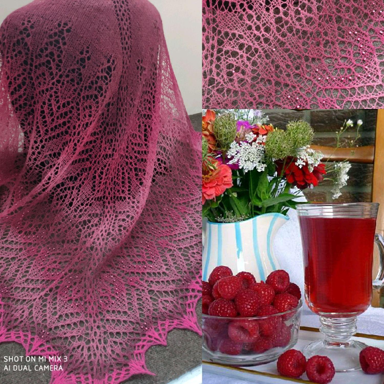 Shawl ' Raspberry wine', Shawls, Tikhvin,  Фото №1