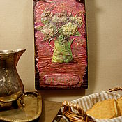 Картины и панно ручной работы. Ярмарка Мастеров - ручная работа «Великолепная Гортензия» панно на толстой доске. Handmade.