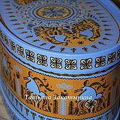 Русский стиль ручной работы. Ярмарка Мастеров - ручная работа Короб овальный. Handmade.