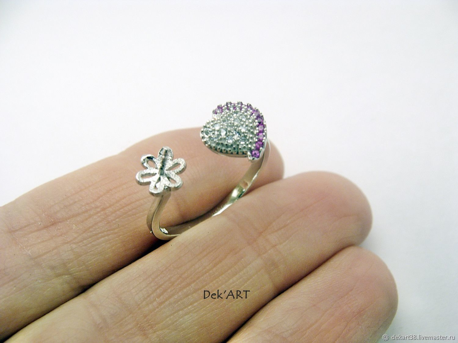 The basis for ring silver plated Art. 92504 approx, Blanks for jewelry, Irkutsk,  Фото №1