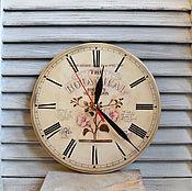 Для дома и интерьера handmade. Livemaster - original item Wall clock vintage decoupage
