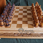 Сувениры и подарки handmade. Livemaster - original item Chess and table Vikings. Handmade.