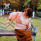 """Блузки ручной работы. Ярмарка Мастеров - ручная работа Блуза """"Нежность прованса"""" (бежевая). Handmade."""