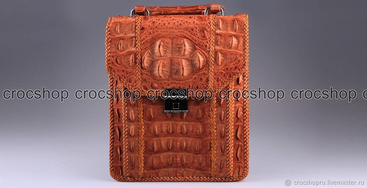 Bag tablet, men's crocodile leather IMA0106UK1, Men\'s bag, Moscow,  Фото №1