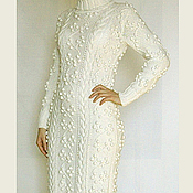 Одежда ручной работы. Ярмарка Мастеров - ручная работа Платье-свитер с косами и шишками. Handmade.