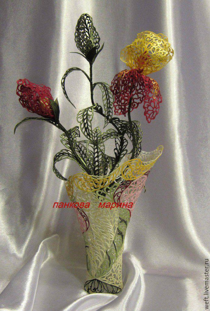 Цветы в технике гильоширования мастер класс
