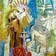 Картина из шерсти по мотивам картины Дэнтона Ланда Колесо Фортуны. Галина Шпаковская. Ярмарка мастеров