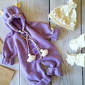"""Работы для детей, ручной работы. Ярмарка Мастеров - ручная работа Комплект """"Черничное мороженое"""". Handmade."""
