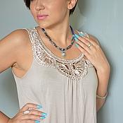 Украшения handmade. Livemaster - original item Choker necklace with Sea pearls Topaz pendant. Handmade.