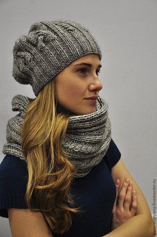 Вязание шапок нет из ниток меланж 63