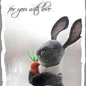 Куклы и игрушки ручной работы. Ярмарка Мастеров - ручная работа Братец Кролик, игрушка БИ-БА-БО, перчаточная кукла. Handmade.