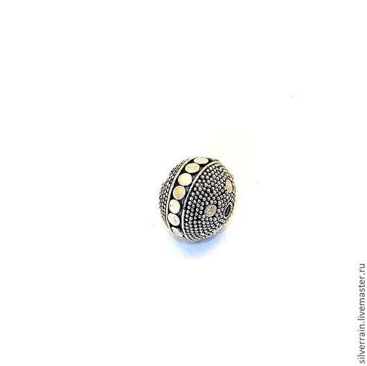 Для украшений ручной работы. Ярмарка Мастеров - ручная работа. Купить Бусина круглая серебро 925 Бали. Handmade. Серебряный
