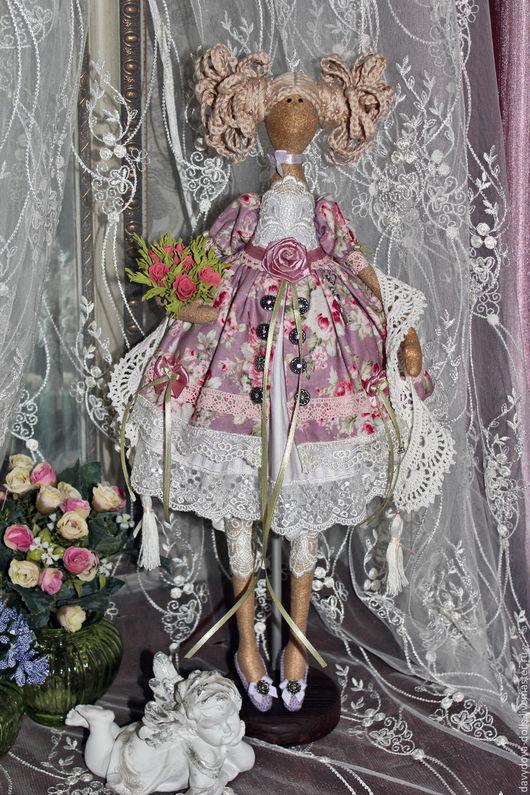 Куклы Тильды ручной работы. Ярмарка Мастеров - ручная работа. Купить Кукла тильда Виолетта.. Handmade. Сиреневый, хендмейд
