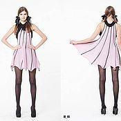 Одежда ручной работы. Ярмарка Мастеров - ручная работа BB_036 Платье, цвет св.астра с черными ажурными прожилками. Handmade.