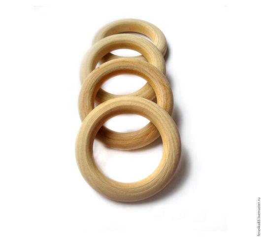 Для украшений ручной работы. Ярмарка Мастеров - ручная работа. Купить Колечки деревянные 56 мм. Handmade. Деревянный