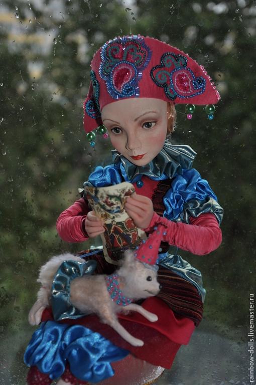 Коллекционные куклы ручной работы. Ярмарка Мастеров - ручная работа. Купить Коломбина. Handmade. Коломбина, rainbow-dolls, кукла из пластика