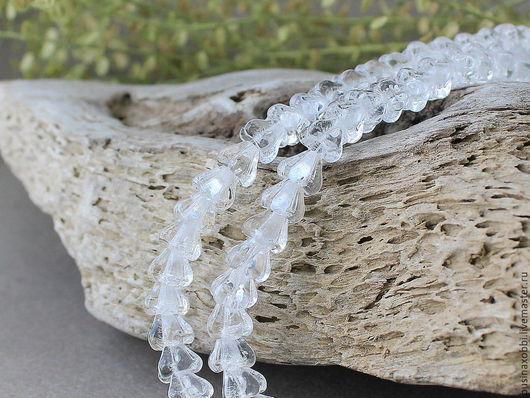 Чешские бусины цветочки колокольчики из стекла. Эти прессованные стеклянные бусины прекрасно подходят для любых ювелирных решений. Легкие и прочные бусины идеальны для изготовления серег и браслетов,