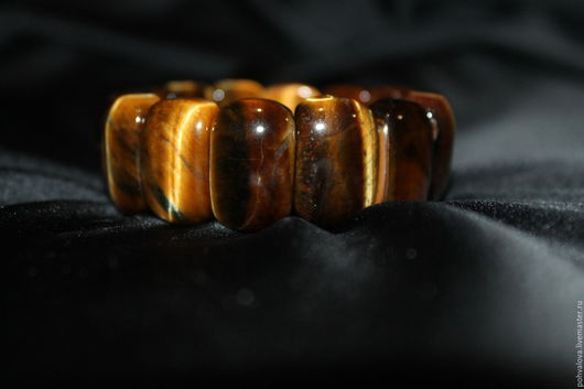Браслеты ручной работы. Ярмарка Мастеров - ручная работа. Купить Браслет из натуральных камней Петерсит (Соколиный глаз / тигровый гла). Handmade.
