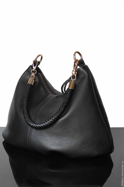 Женские сумки ручной работы. Ярмарка Мастеров - ручная работа. Купить Сумка Кожаная, хобо, черная сумка, сумка из кожи. Handmade.