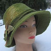 Аксессуары ручной работы. Ярмарка Мастеров - ручная работа шляпа с полями. Handmade.