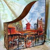 """Журнальницы ручной работы. Ярмарка Мастеров - ручная работа """"Осень в Париже"""", журнальница. Handmade."""