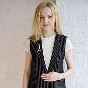 Одежда handmade. Livemaster - original item Vest stripe. Handmade.