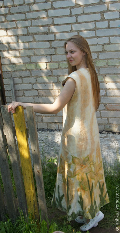 Платья ручной работы. Ярмарка Мастеров - ручная работа. Купить Платье валяное Нежные мотивы. Handmade. Платье, вечернее платье