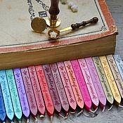 Материалы для творчества ручной работы. Ярмарка Мастеров - ручная работа Воск с фитилем для печатей, 19 цветов. Handmade.