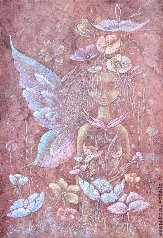 Фэнтези ручной работы. Ярмарка Мастеров - ручная работа. Купить Бабочка. Tortuga girl Картина фэнтези. Фея. Волшебный сад.. Handmade.