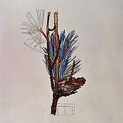 Картины и панно ручной работы. Ярмарка Мастеров - ручная работа Сосновая ветка. Handmade.