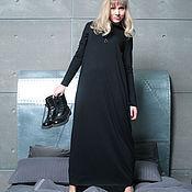 Одежда ручной работы. Ярмарка Мастеров - ручная работа Платье трикотажное Assymetric black. Handmade.