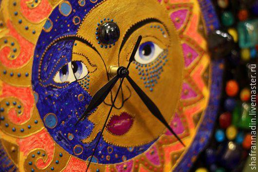 Часы для дома ручной работы. Ярмарка Мастеров - ручная работа. Купить Часы в восточном стиле.... Handmade. Комбинированный, часы необычные