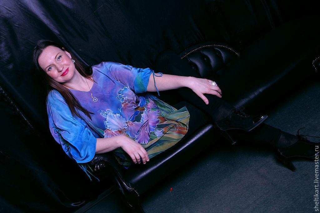 Голубая блузка купить в санкт петербурге