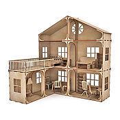 Модульный Кукольный домик с балконом (без мебели)