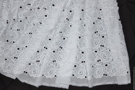 """Шитье ручной работы. Ярмарка Мастеров - ручная работа. Купить Хлопок ришелье """"Dolce&Gabbana"""". Handmade. Ткани для одежды, кружево для отделки"""
