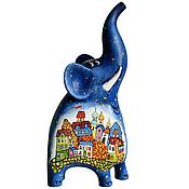 Статуэтки ручной работы. Ярмарка Мастеров - ручная работа Статуэтки: Слон деревянный. Handmade.