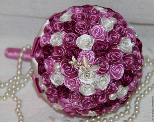 Свадебный букет дублер из цветов ручной работы( атлас). Сделан с любовью! Юлия Бельская