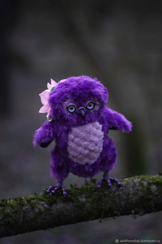 Фиолетовый совенок, Мягкие игрушки, Тверь,  Фото №1