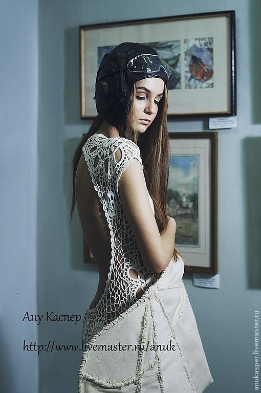 Платье с вязанной спиной