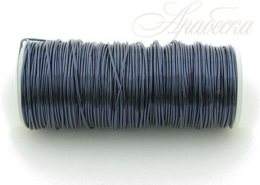 Проволока медная синего цвета 0.5мм EFCO (Германия) 25м/упак