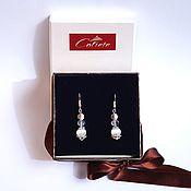 Украшения handmade. Livemaster - original item Handmade earrings made of natural stones