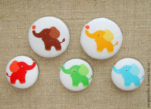 Шитье ручной работы. Ярмарка Мастеров - ручная работа. Купить Цветные слоники. Handmade. Слон, слоненок, материалы для украшений