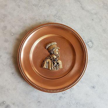 Винтаж ручной работы. Ярмарка Мастеров - ручная работа Винтаж: Настенная декоративная тарелка. Handmade.