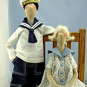 Куклы и игрушки ручной работы. Ярмарка Мастеров - ручная работа Моряк и Люська. Handmade.
