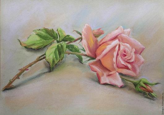 Картины цветов ручной работы. Ярмарка Мастеров - ручная работа. Купить Рисунок розы 30х42 см.. Handmade. Комбинированный