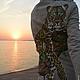"""Верхняя одежда ручной работы. Пальто """"Леопард""""ручная роспись. Ирина (dneproart). Ярмарка Мастеров. Атлас"""