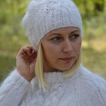 Accessories handmade. Livemaster - original item Beanie down hat for women. Handmade.