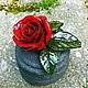 Колокольчики ручной работы. Ярмарка Мастеров - ручная работа. Купить Колокольчик Сицилийская роза. Handmade. Ярко-красный, колокольчик, италия