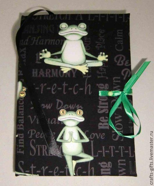 Блокноты ручной работы. Ярмарка Мастеров - ручная работа. Купить Блокнот Йога 1. Handmade. Зеленый, блокноты ручной работы